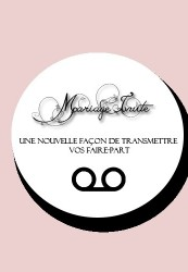 Faire part vocal - Mariageinvite